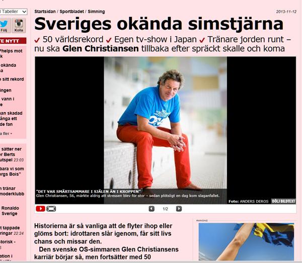 Glen Christiansen i Aftonbladet