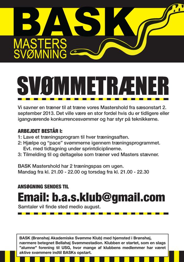 BASK søger Masters-træner
