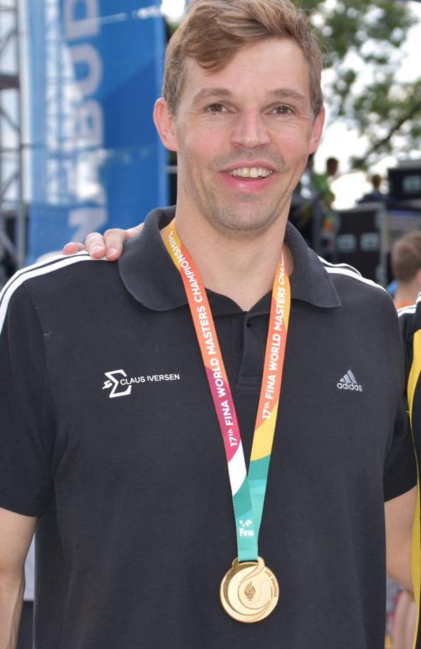 Claus Lerche Iversen                                               vandt fem VM-guld i                                               Budapest