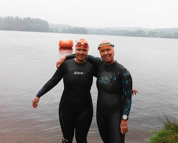 Nadja Joy - Haslev                                               Svømmeklub og Jeanette                                               Demuth - Silkeborg TRI
