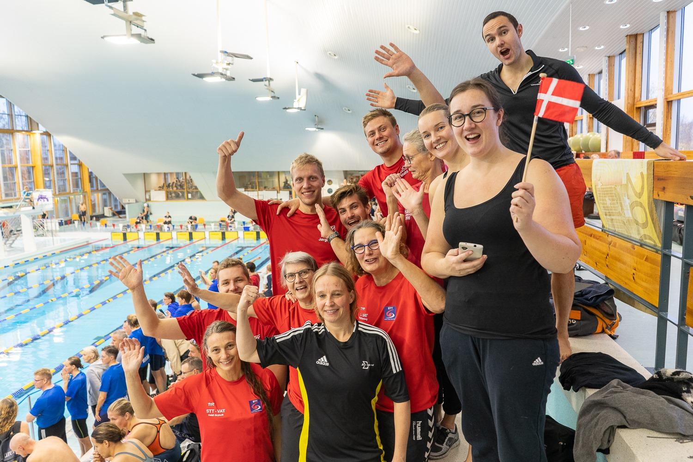 De danske svømmere                                               ved Nordiske Masters i                                               Vantaa 2019