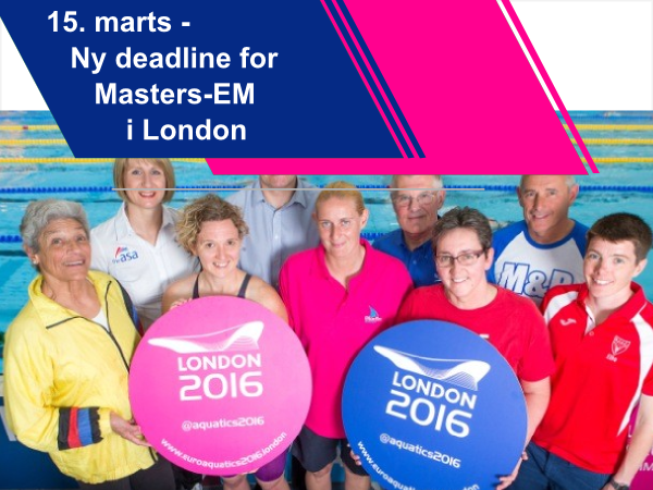 New Deadline for                                               European Masters                                               Championshis 2016 in                                               London