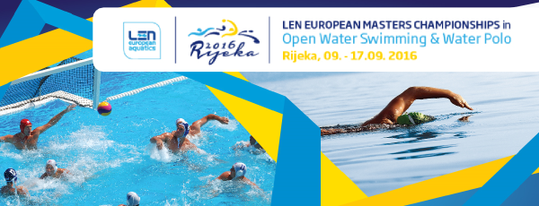 European Masters                                               Championships 2016                                               Waterpolo and Open Water -                                               Rijika - Croatia