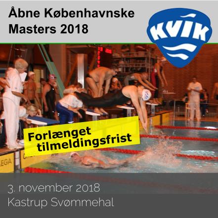 KVIK forl�nger                                               tidsfristen for �bne                                               K�benhavnske Masters                                               2018