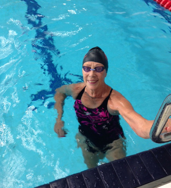 Elisabeth Ketelsen                                               won 5 gold medals at World                                               Masters Championships in                                               swimming in Kazan, Russia