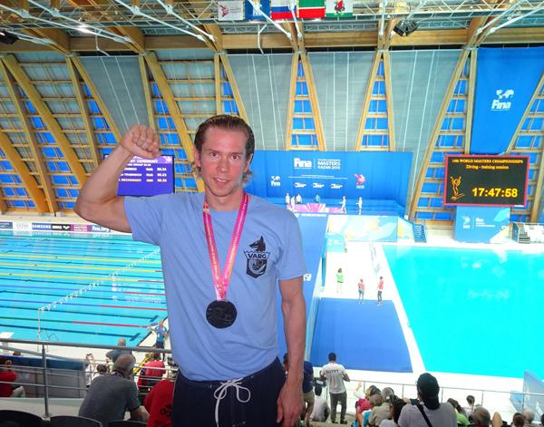 Håkon Skaarud                                               Karlsen svømmede sølv hjem                                               til Norge ved VM i Kazan