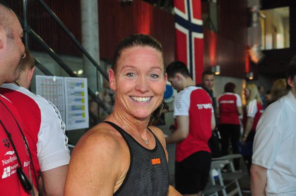 Merete L�vberg                                               satte ny europarekord