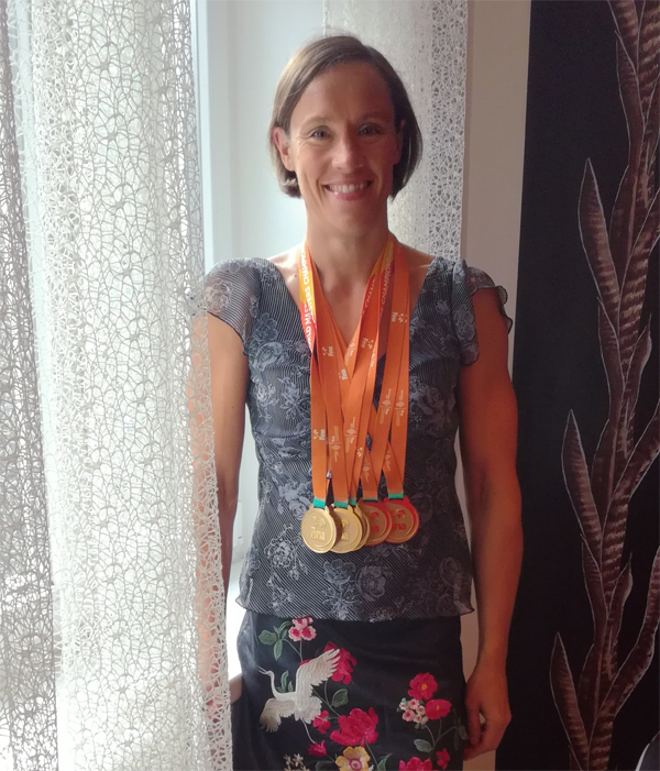 Raakel Luoto - won                                               five World Masters                                               Swimming Championships -                                               goldmedals