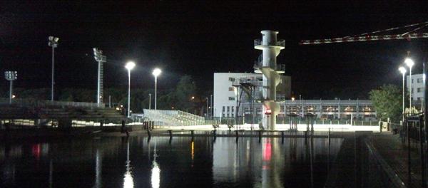 Riccione Swimming Stadium by night