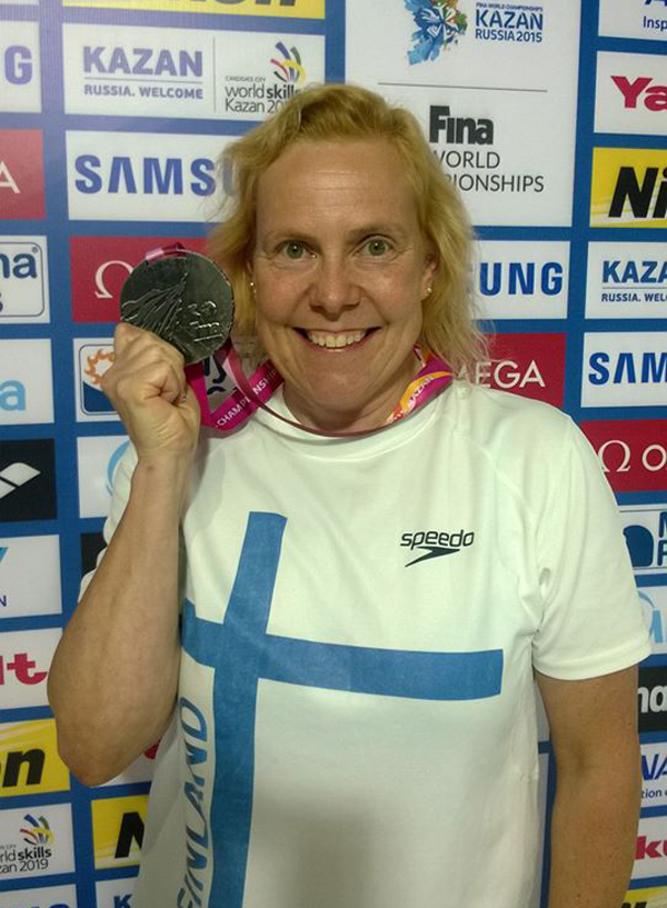 Johanna Kara -                                               World Masters                                               Championships in Swimming