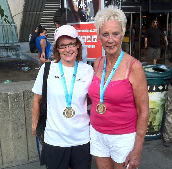 Susanne                                                         Metzsch og                                                         Elisabeth guld                                                         ved VM i                                                         Montreal
